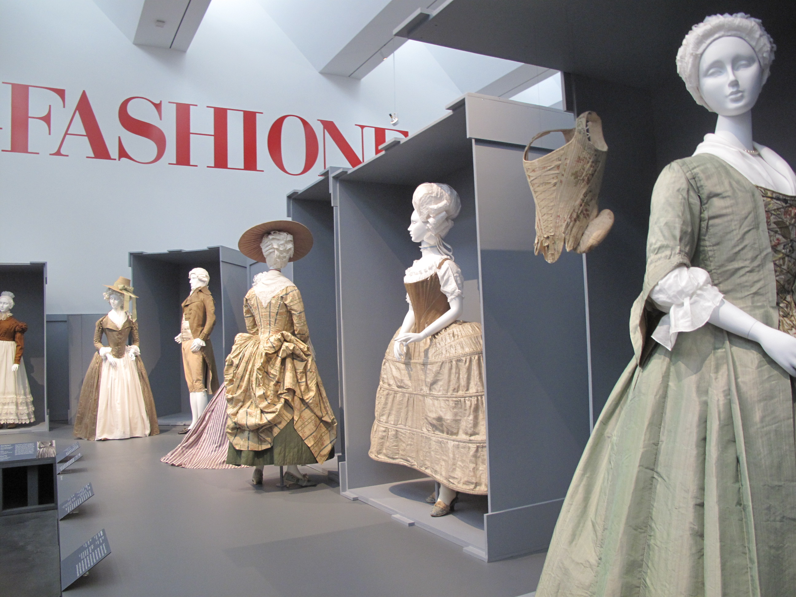 Fashion Exhibition Booth : Two hundred years of european fashion land in paris