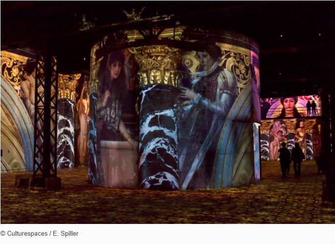 gustav klimt-exhibbition-atelier-des-lumieres-paris-copyright-culturespaces-e.spiller