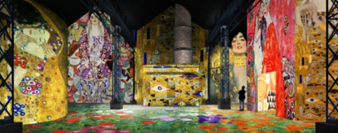 Gustav Klimt at the Atelier des Lumières Paris