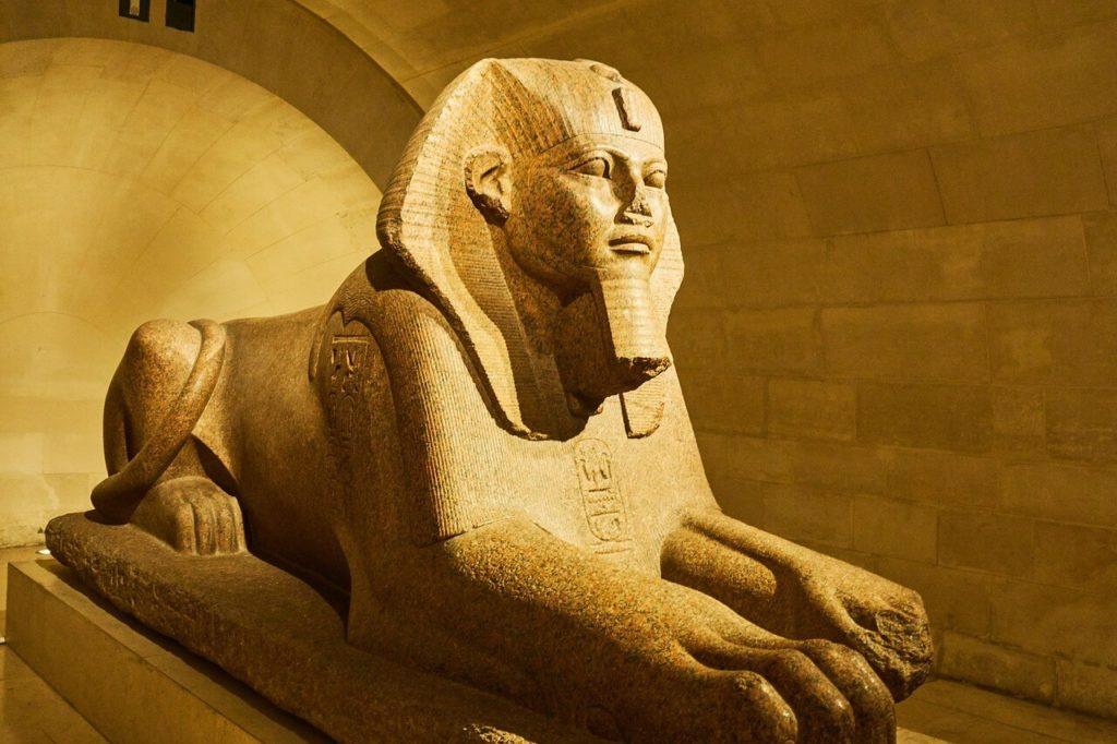 Sphinx d'Amenemhat II, Département des antiquités égyptiennes du musée du Louvre, Paris
