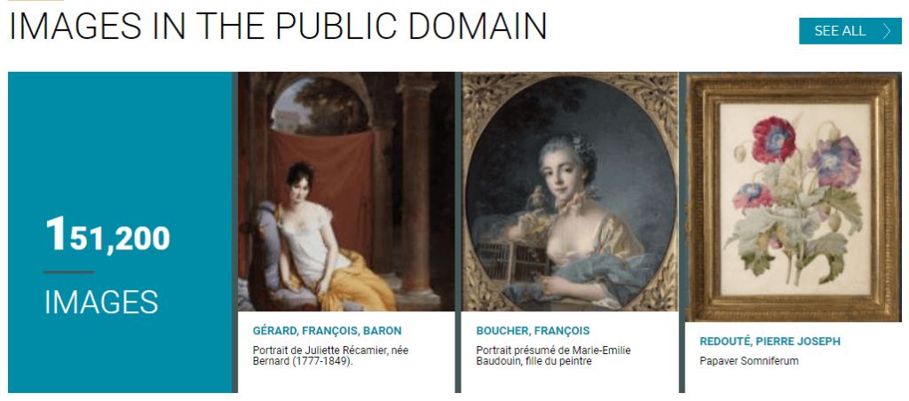 paris musées_images in the public domain