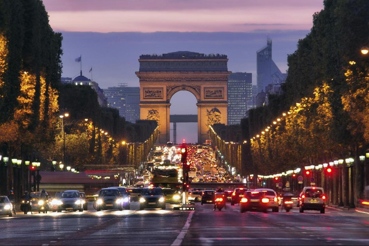 Champs Elysees Avenue Paris